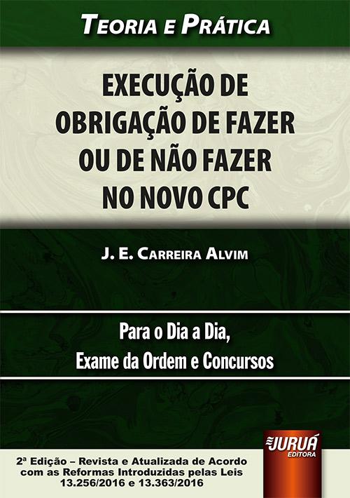 Juruá Editora Execução De Obrigação De Fazer Ou De Não