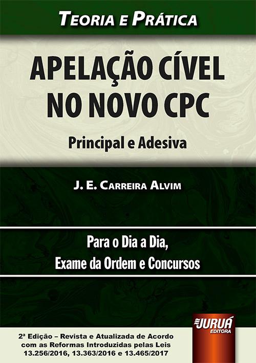 Juruá Editora Apelação Cível No Novo Cpc Principal E