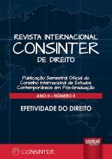 Revista Internacional Consinter de Direito - Ano II - Número II - Efetividade do Direito