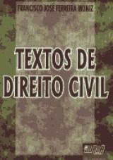 Capa do livro: Textos de Direito Civil, Francisco José Ferreira Muniz