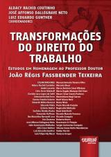 Capa do livro: Transformações do Direito do Trabalho, Coordenadores: Aldacy Rachid Coutinho, José Affonso Dallegrave Neto e Luiz Eduardo Gunther