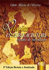 Capa do livro: Relações Internacionais Estudos de Introdução, Odete Maria de Oliveira