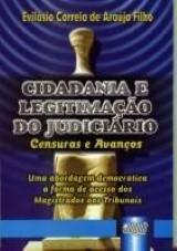 Capa do livro: Cidadania e Legitimação do Judiciário, Evilásio Correia de Araújo Filho