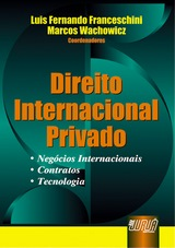 Capa do livro: Direito Internacional Privado, Coordenadores: Luis Fernando Franceschini, Marcos Wachowicz