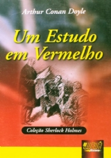 Capa do livro: Um Estudo em Vermelho, Arthur Conan Doyle