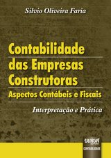 Capa do livro: Contabilidade das Empresas Construtoras, Silvio Oliveira Faria