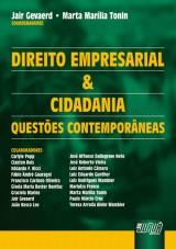 Capa do livro: Direito Empresarial e Cidadania - Questões Contemporâneas, Coordenadores: Jair Gevaerd e Marta Marília Tonin