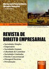 Capa do livro: Revista de Direito Empresarial - Nº 01 - Janeiro/Junho 2004, Coordenadores: Marcia Carla Pereira Ribeiro, Oksandro Gonçalves