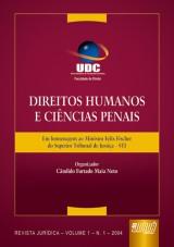 Capa do livro: Direitos Humanos e Ciências Penais - Em homenagem ao Ministro Felix Fischer do STJ, Organizador: Cândido Furtado Maia Neto