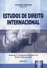 Capa do livro: Estudos de Direito Internacional - Vol. I, Organizador: Wagner Menezes