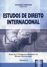 Capa do livro: Estudos de Direito Internacional - Vol. II, Organizador: Wagner Menezes