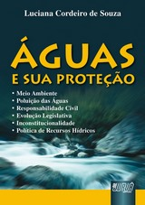 Capa do livro: �guas e sua Prote��o, Luciana Cordeiro de Souza
