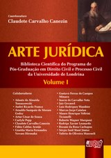 Capa do livro: Arte Jur�dica - Volume I, Coordenadora: Claudete Carvalho Canezin