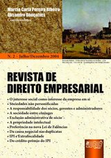 Capa do livro: Revista de Direito Empresarial - N� 02 - Julho/Dezembro 2004, Coordenadores: Marcia Carla Pereira Ribeiro e Oksandro Gon�alves