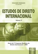 Capa do livro: Estudos de Direito Internacional - Vol. IV, Coordenador: Wagner Menezes