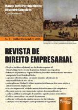 Capa do livro: Revista de Direito Empresarial - Nº 04 - Julho/Dezembro 2005, Coordenadores: Marcia Carla Pereira Ribeiro e Oksandro Gonçalves