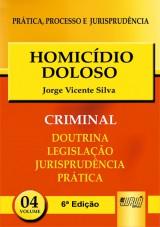 Capa do livro: Homicídio Doloso - PPJ Criminal vol. 4, Jorge Vicente Silva