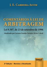 Capa do livro: Comentários à Lei de Arbitragem, J.E. Carreira Alvim