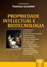 Capa do livro: Propriedade Intelectual e Biotecnologia, Coordenadora: Vanessa Iacomini