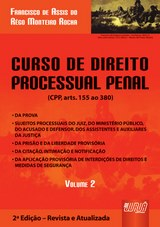 Capa do livro: Curso de Direito Processual Penal - Volume II, Francisco de Assis do Rêgo Monteiro Rocha