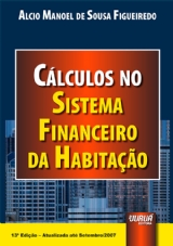 Capa do livro: Cálculos no Sistema Financeiro da Habitação, Alcio Manoel de Sousa Figueiredo