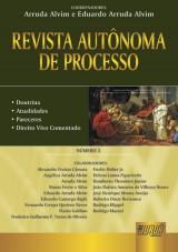 Capa do livro: Revista Autônoma de Processo - Número 3, Coordenadores: Arruda Alvim e Angélica Arruda Alvim