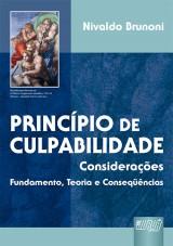Capa do livro: Princípio de Culpabilidade - Considerações, Nivaldo Brunoni