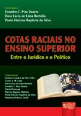 Capa do livro: Cotas Raciais no Ensino Superior - Entre o Jur�dico e o Pol�tico, Coords.: Evandro C. P. Duarte, Dora L. L. Bert�lio e Paulo V. B. Silva