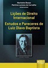 Capa do livro: Lições de Direito Internacional, Organizadoras: Maristela Basso e Patrícia Luciane de Carvalho