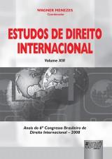 Capa do livro: Estudos de Direito Internacional - Volume XIII, Coordenador: Wagner Menezes