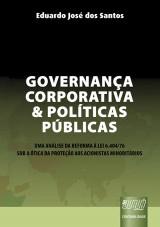 Capa do livro: Governança Corporativa e Políticas Públicas, Eduardo José dos Santos
