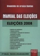 Capa do livro: Manual das Eleições, Sivanildo de Araújo Dantas