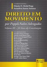 Capa do livro: Direito em Movimento, Coordenadores: Májeda D. Mohd Popp e Anassílvia Santos Antunes