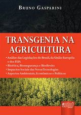 Capa do livro: Transgenia na Agricultura, Bruno Gasparini