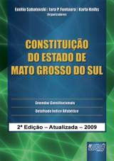 Capa do livro: Constituição do Estado de Mato Grosso do Sul, Organizadores: Emilio Sabatovski, Iara P. Fontoura e Karla Knihs