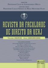 Capa do livro: Revista da Faculdade de Direito da UERJ, Diretor: Professor Celso de Albuquerque Mello - Editor Chefe: Carlos Edison do Rêgo Monteiro Filho