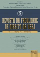Capa do livro: Revista da Faculdade de Direito da UERJ, Diretor: Professor Ricardo Lobo Torres / Editor Chefe: Carlos Edison do Rego Monteiro Filho