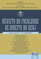 Capa do livro: Revista da Faculdade de Direito da UERJ, Diretor: Professor Antonio Celso Alves Pereira - Editor Chefe: Carlos Edison do Rêgo Monteiro Filho