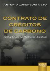 Capa do livro: Contrato de Créditos de Carbono, Antonio Lorenzoni Neto