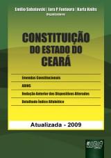 Capa do livro: Constituição do Estado do Ceará, Organizadores: Emilio Sabatovski, Iara P. Fontoura e Karla Knihs