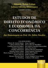 Capa do livro: Estudos de Direito Econômico e Economia da Concorrência, Coordenadores: Eduardo Molan Gaban e Juliana Oliveira Domingues