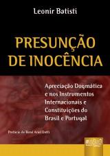 Capa do livro: Presunção de Inocência, Leonir Batisti