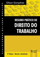 Capa do livro: Resumo Prático de Direito do Trabalho, Gilson Gonçalves