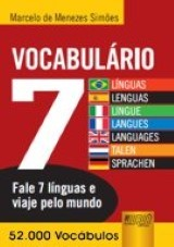 Capa do livro: Vocabulário 7 Línguas/Lenguas, Marcelo de Menezes Simões