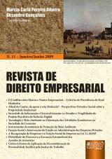 Capa do livro: Revista de Direito Empresarial - Nº 11 - Janeiro/Junho 2009, Coordenadores: Marcia Carla Pereira Ribeiro e Oksandro Gonçalves