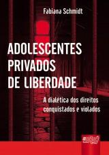 Capa do livro: Adolescentes Privados de Liberdade, Fabiana Schmidt