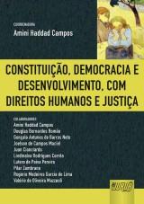 Capa do livro: Constituição, Democracia e Desenvolvimento, com Direitos Humanos e Justiça, Coordenadora: Amini Haddad Campos