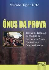 Capa do livro: Ônus da Prova, Vicente Higino Neto
