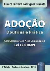 Capa do livro: Adoção, Eunice Ferreira Rodrigues Granato