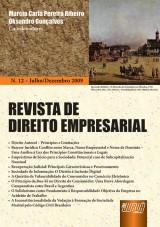 Capa do livro: Revista de Direito Empresarial - Nº 12 - Julho/Dezembro 2009, Coordenadores: Marcia Carla Pereira Ribeiro e Oksandro Gonçalves
